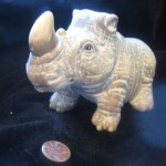 Rhino Figurine by Nathaniel Rich