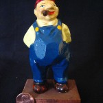 Smoking Man Figurine by Vicente Lozano