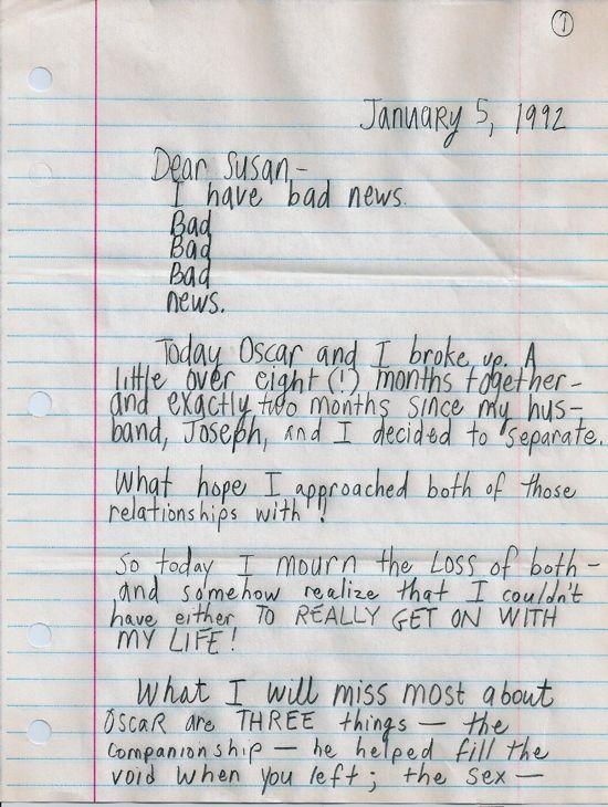 Dear Susan, page one