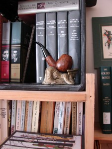 Sea Captain Pipe Rest (Story by Michael Atkinson) in its new home.