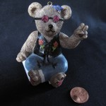 Hippie Bear Ornament by Mimi Lipson