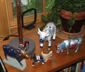 Mule Figurine with story by Matthew Sharpe, in its new home